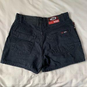 Bongo Vintage Black High Waited Denim Shorts